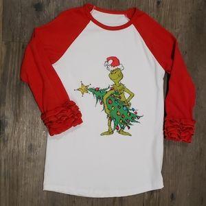 Grinch toddler Christmas tee
